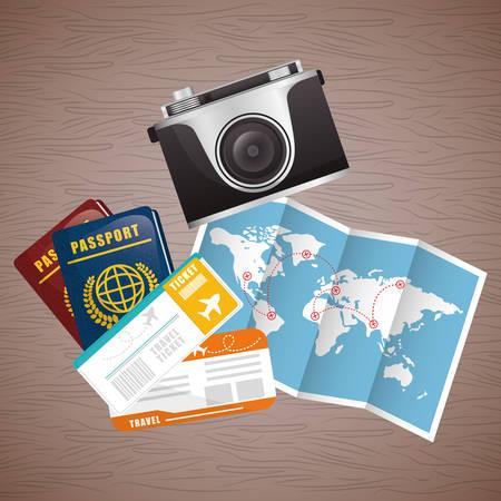 pasaporte: pasaporte para viajes de diseño, ilustración vectorial eps 10 gráfico