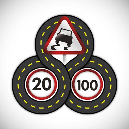 se�ales de seguridad: l�mite de km de dise�o, ilustraci�n vectorial eps 10 gr�fico Vectores