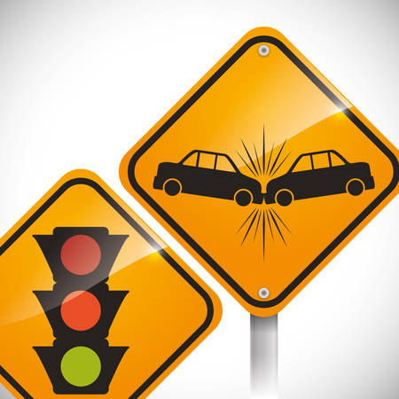 car accident: car accident advert design, vector illustration 10 eps graphic Illustration