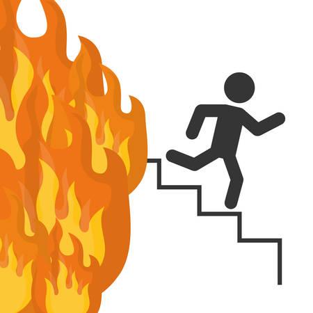 emergency exit: Emergency exit digital design, vector illustration 10 eps graphic