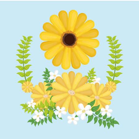 yelllow: colorful flower digital design, vector illustration 10 eps graphic