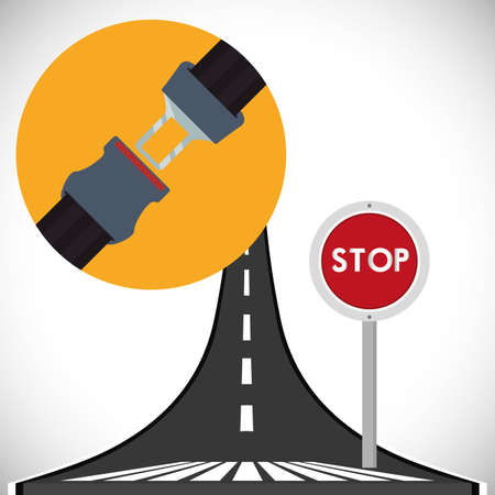 to fasten: road sign of fasten belt design, vector illustration 10 eps graphic Stock Photo