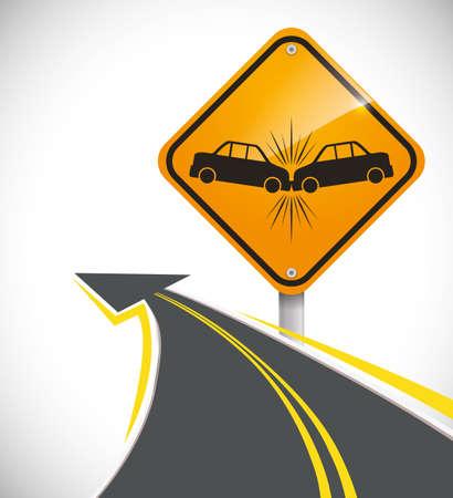 advert: car accident advert design, vector illustration 10 eps graphic Stock Photo