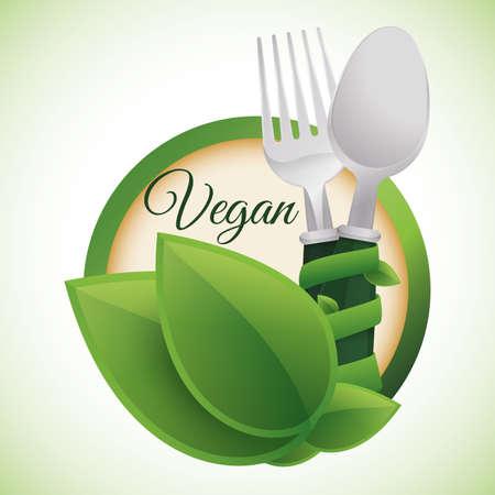 natural food: Vegan digital design, vector illustration 10 eps graphic Stock Photo
