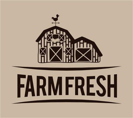 fresh produce: Rural lifestyle concept, farm icons, vector illustration