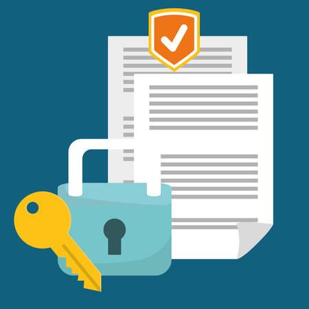 Securty systeem concept, waarschuwing iconen ontwerp, vector illustratie Vector Illustratie