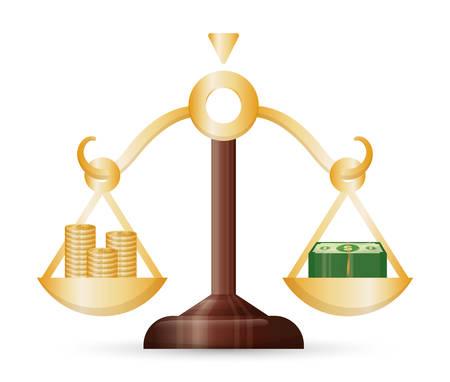 profits: Business, money profits and global economy, vector illustration