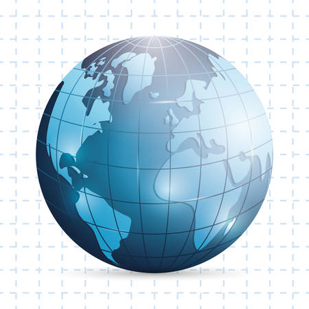 geography: Map world geography design, vector illustration  Illustration