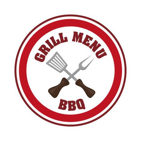 american food: Sausage barbecue food design, vector illustration eps 10 Illustration