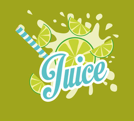 drinking straw: juice drink with drinking straw concept, vector illustration