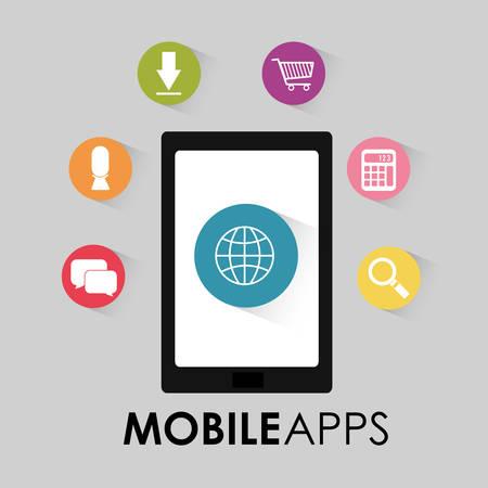 application: Mobile applications shop entertainment, vector illustration eps 10
