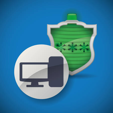 value system: Security System concept with warning icons design, vector illustration 10 eps graphic.