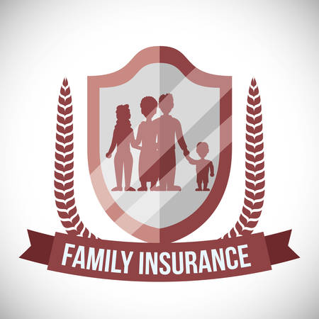 family policy: Security System concept with warning icons design, vector illustration 10 eps graphic.