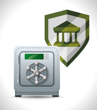 secured: Security System concept with warning icons design, vector illustration 10 eps graphic.