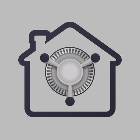 Security System concept with warning icons design, vector illustration 10 eps graphic.