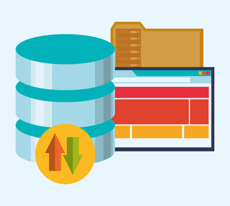 web hosting: web hosting concept with cloud computing icons design, vector illustration 10 eps graphic.