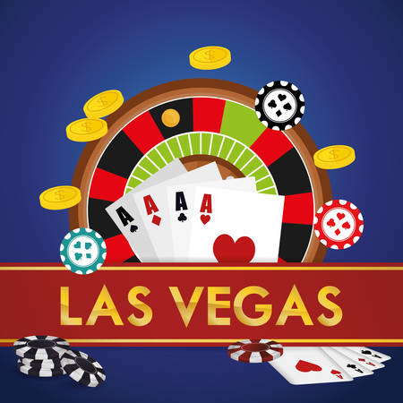 vegas sign: Las Vegas concept with casino icons design, vector illustration graphic.