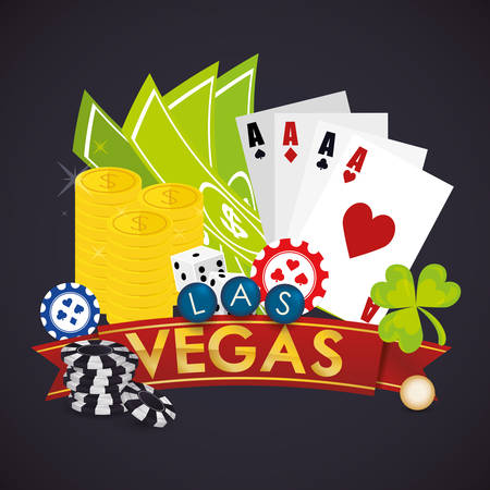 las vegas casino: Las Vegas concept with casino icons design, vector illustration  graphic. Illustration