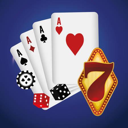 losing money: Las Vegas concept with casino icons design, vector illustration   graphic.