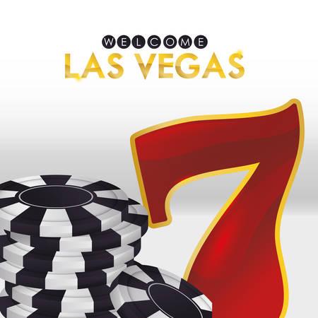 losing money: Las Vegas concept with casino icons design, vector illustration  graphic. Illustration