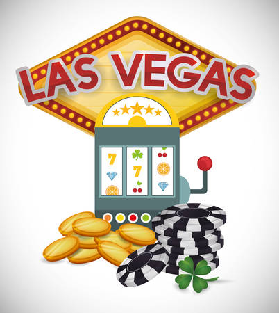 las: Las Vegas concept with casino icons design, vector illustration  graphic. Illustration