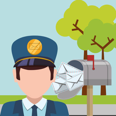 commercial tree service: delivery concept shipping icons design, vector illustration 10 eps graphic. Illustration