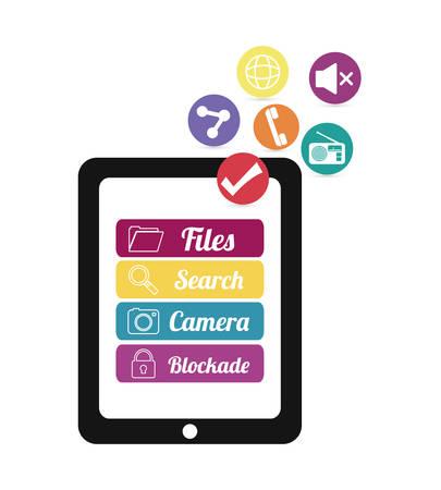 blockade: Mobile applications shop entertainment, vector illustration eps 10