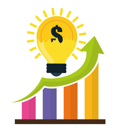 financial growth: Financial Growth concept and money  icons design, vector illustration   graphic. Illustration