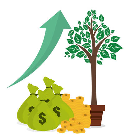 financial growth: Financial Growth concept and money  icons design, vector illustration 10 eps graphic. Illustration