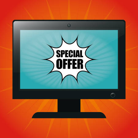 computer art: Special offer concept label with sale icons, vector illustration  graphic. Illustration