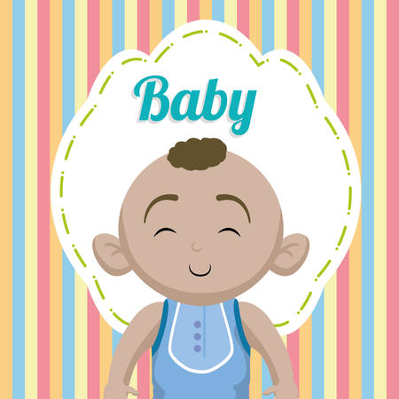 fun background: Baby Shower concept with decoration icons, vector illustration graphic.