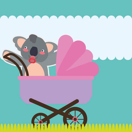 sweet background: Baby Shower concept with decoration icons, vector illustration  graphic.