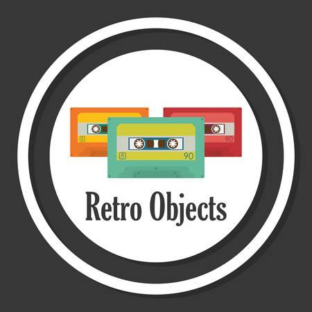 casette: Retro objects and vintage media design, vector illustration