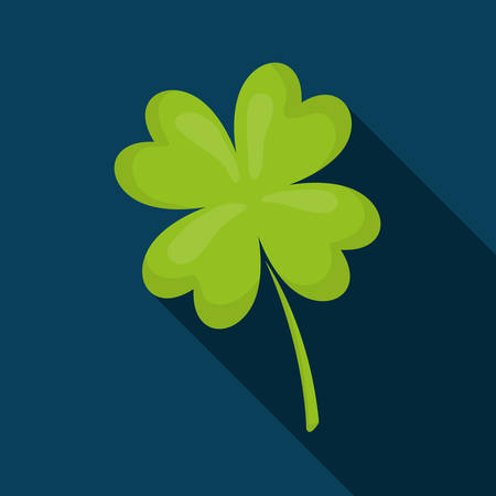 lucky clover: Clover lucky irish leaf graphic design, vector illustration Illustration