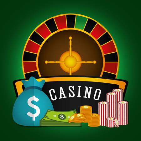 wheel of fortune: Casino royal games graphic design, vector illustration