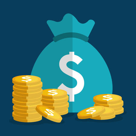 save: Money savings, business and finance graphic design, vector illustration