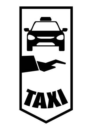 avenue: Taxi concept with service icon design