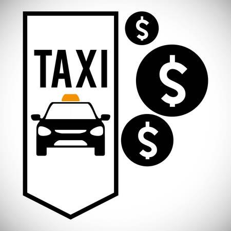 avenue: Taxi concept with service icon design, vector illustration 10 eps graphic.