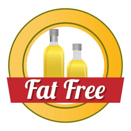gordos: Concepto libre de grasa con un dise�o icono saludable y de calidad, ilustraci�n vectorial eps 10 gr�fico. Vectores