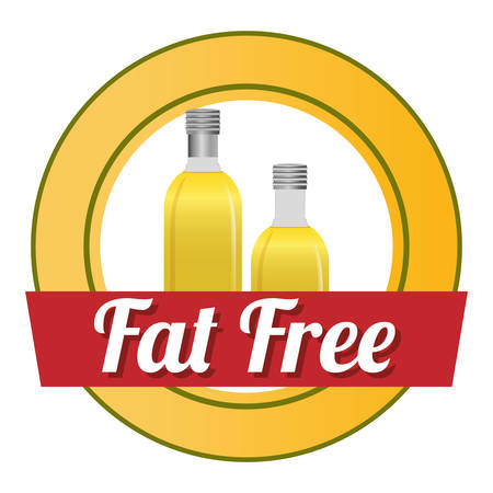 fat: Fat free concept with healthy and quality icon design, vector illustration 10 eps graphic. Illustration