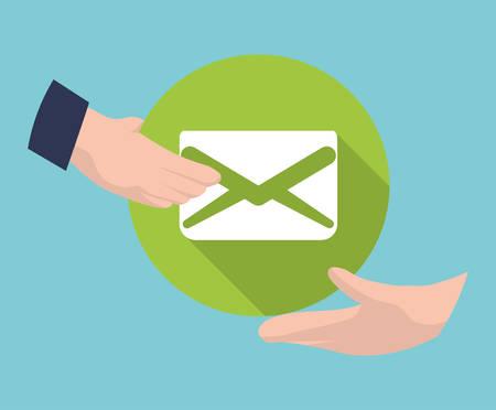 envelope design: Email concept with envelope design, vector illustration 10 eps graphic.