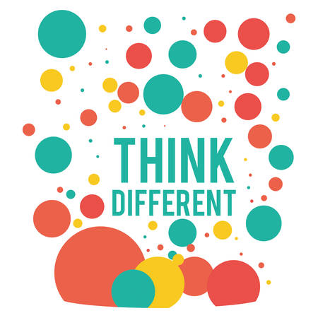 different concept: Think different concept with positive icons design, vector illustration 10 eps graphic.