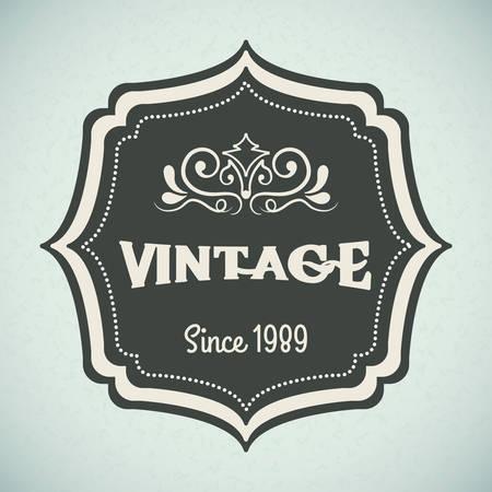 label retro: Vintage and retro label design, vector illustration Vectores