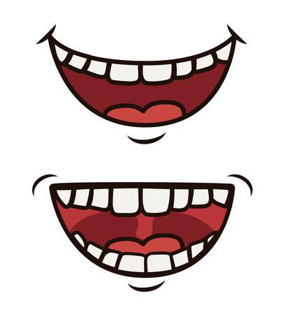재미있는 만화 얼굴 디자인, 벡터 일러스트 레이 션 (10)를 주당 순이익.