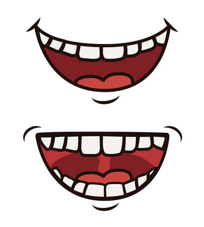laugh emoticon: Funny cartoon face design, vector illustration eps 10.