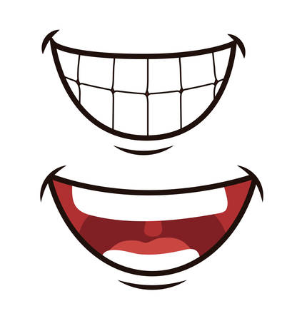 mouth to mouth: Funny cartoon face design, vector illustration eps 10.