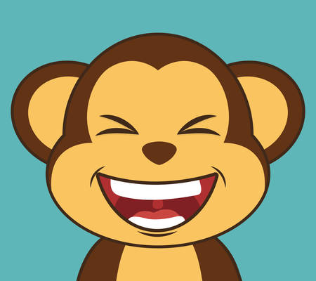 laughing face: Funny cartoon face design, vector illustration eps 10.