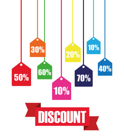 special offers: Big sales and special offers shopping design, vector illustration Illustration