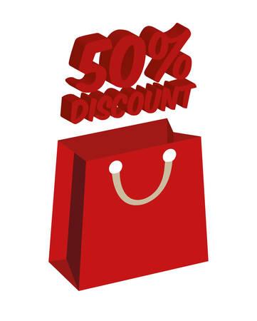big sales: Big sales and special offers shopping design, vector illustration Illustration