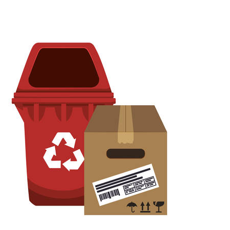 guard box: Recycle concept  about eco icons design, vector illustration 10 eps graphic. Illustration